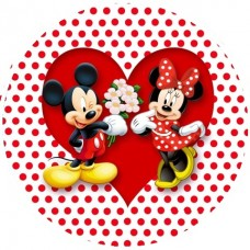 0453d Disc vafa Mickey Mouse si Minnie Mouse d14.5cm