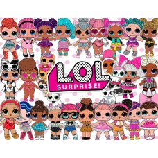 100LOLZ Foaie de zahar LOL SURPRISE DOLLS 29X20cm