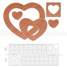 34808ID Set inimioare si patrate de ciocolata, 280 bucati, Modecor