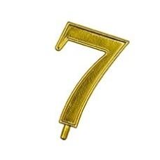 NUMARUL 7 AURIU DIN PLASTIC  ALCAS SET 10 BUC