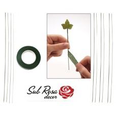 SRD10S1V - Kit banda verde si 10 sarme scurte groase