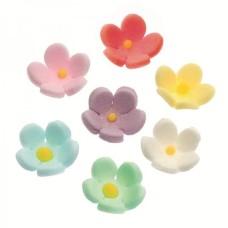Floricele multicolore din zahar cutie 30buc