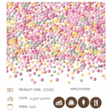 00980 MINI BOMBONELE PAREILS MULTICOLORE SHINY COLOURED PEARLS 1.8KG BARBARA DECOR