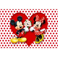 0453A5 Vafa Mickey Mouse si Minnie Mouse 20x15cm