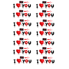 075415 vafa placute personalizate I love you 30x20cm
