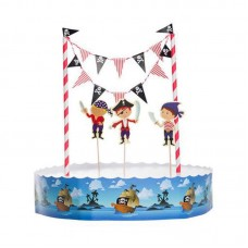 25029B Party kit set decorare pirati cu toppers si braulet Modecor
