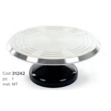 31242 Suport rotativ metalic pentru ornat tort cu picior antialunecare Modecor Master Cakes