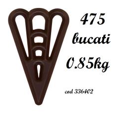 336402 Triunghiuri de ciocolata neagra 475 bucati 0.85kg Barbara Decor