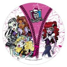 41026C Disc de zahar Monster High d22cm Modecor