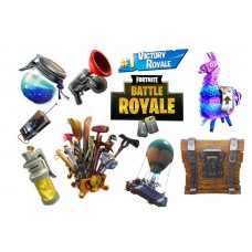 544216Z Foaie de zahar elemente Fortnite Battle Royale 29x20cm