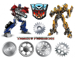 5WEELB Transformers imagine comestibila din zahar 29x20cm
