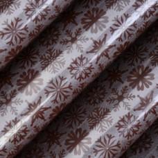 81323 Folie de transfer pe ciocolata fulgi de zapada pe fundal argintiu 40x30cm Modecor