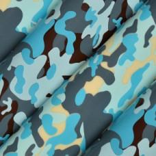 81330 Folie de transfer pe ciocolata camufalaj albastru 40x30cm Modecor