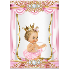 VBS2 Vafa bebelusa cu tutu roz Vintage Baby Shower collection 30X20cm